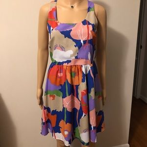 Everly blue floral dress size L
